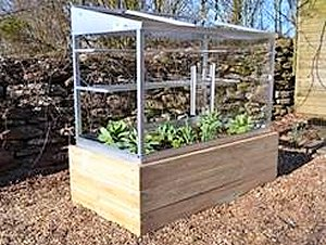 Raised Base With Half Growhouse.