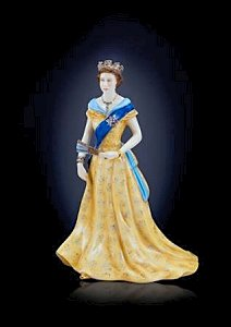 Figurine of HM Queen Elizabeth II.