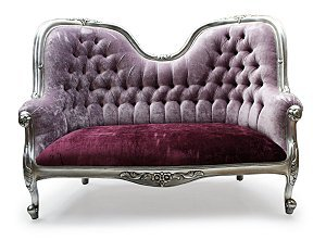 French Funky Upholstered Designer Love Seat-1