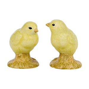 Quail Ceramics Yellow Chick Salt & Pepper Set