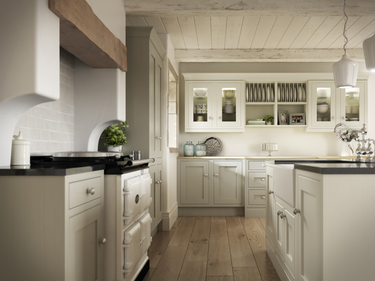 Harwood Kitchen featuring Pumice & Ivory. Symphony Group