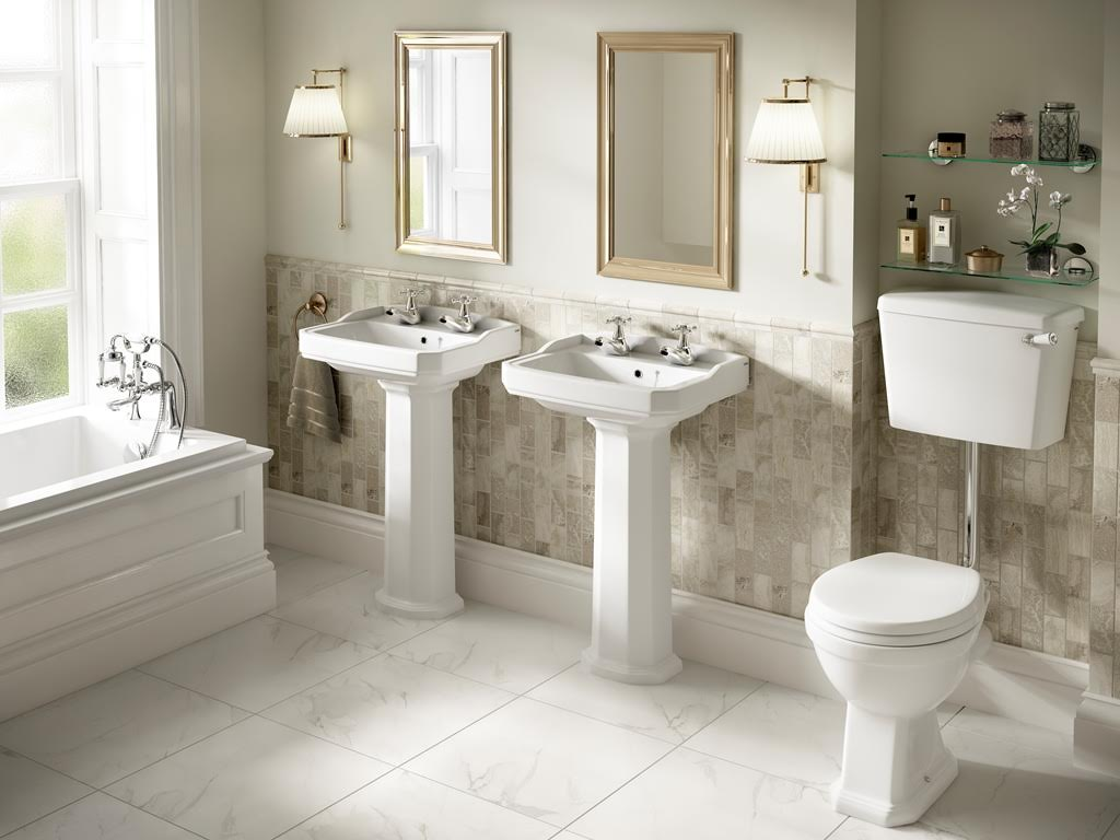 Art deco inspired bathrooms