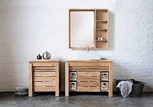 Wooden bathroom cabinets uk