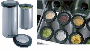 Brabantia's Clear Top Canisters Help Organize Your Kitchen