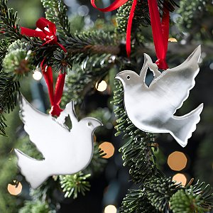 gorgeous sterling silver christmastree decorations at christmas - Silver Christmas Decorations Uk