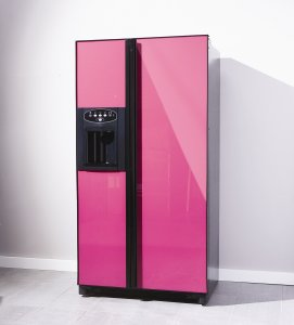 The CAFF22 American Style Fridge Freezer in Pink - from Caple