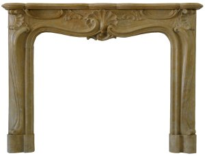 The Regence Marble Fireplace in Giallo Treviso Marble from Chesneys