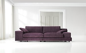 Cosy UP This Autumn On A Luscious Purple Sofa