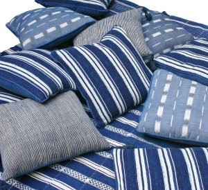 Home Ideas on These Striking Indigo Cushions From Guinevere Are Made From A Variety