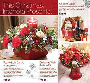 Christmas Flowers & Presents Galore From Interflora