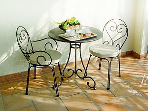 Café Style Dining Set From Metal Design Furniture