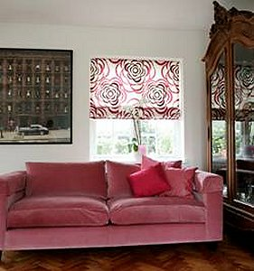 New Roman Blinds With Matching Curtains And Cushions