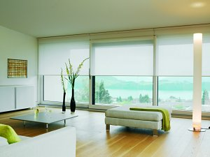 View topic wide window with a bulkhead immediately above for Roman blinds for large windows